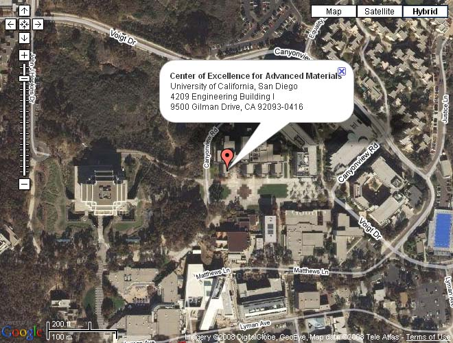 CEAM's location on UCSD campus
